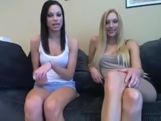 girls play sexy jerk off card game joi