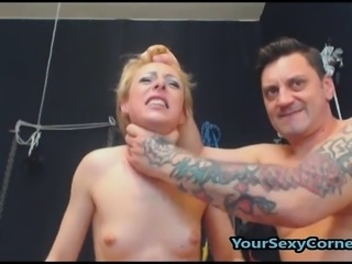 Hot blonde likes BDSM sex she fucks guys