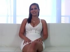Camera-shy brunette bitch