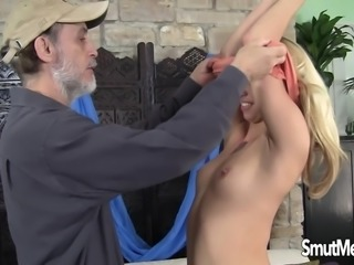 Angie Sweet fucked by old dude