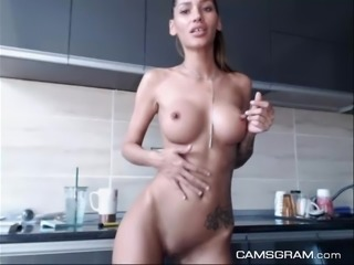 Sexy Nice Breasts Shaved In Masturbation Home Movie