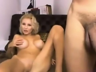 Bored wife have sex on cam with stranger