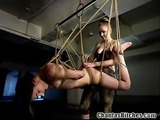 stunning sasha gets a lesson in rope bondage