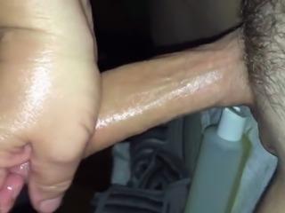 real amateur video of the game Massage handjob ii