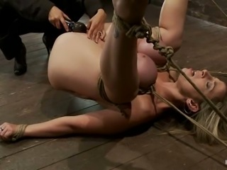 Sara Jay the busty MILF loves to be dominated and tortured