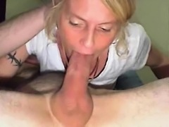 Sexy blonde gal suck the driver big cock