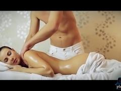 Big natural tits Czech MILF Connie Carter horny massage fuck