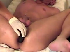 Doctor video examining gay male genitals Deep breathing and