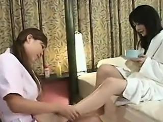 Lesbians foot fetish fun