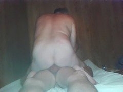 great fucking! gay queer slave rides his master's bare cock!