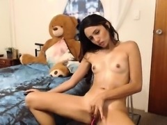 Horny amateur teen toys pussy video