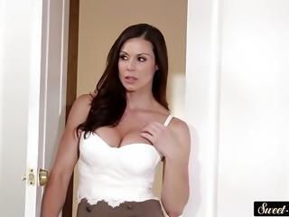 Busty milf seduces her new stepson
