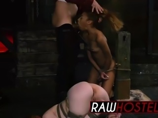 rough deepthroat and fucking with kinky slut alexa nova and her female friend