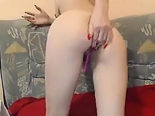 Big boobs webcam slut toys her asshole