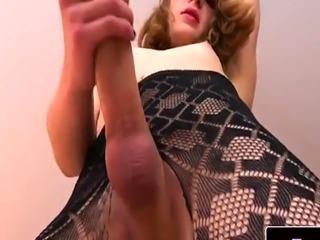 Lovely femboi asstoying and masturbating solo