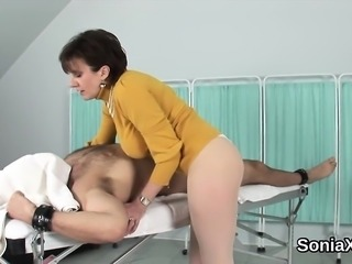 Adulterous english milf lady sonia shows off her huge melons