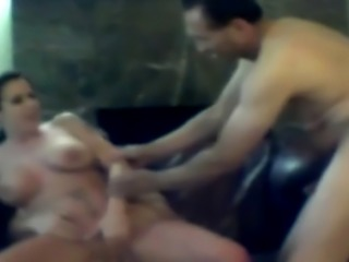 Two Dudes Fucking Cheating Brunette Moxxie On Spy Camera