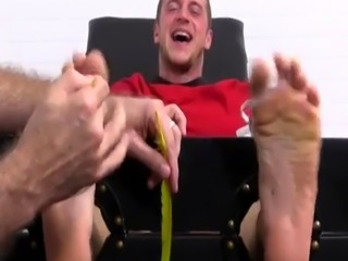 Gay boy trash feet and big hairy legs men first time Kenny Tickled In
