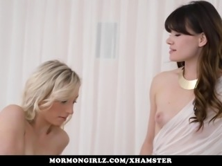 Mormongirlz - Blonde takes rides strap on
