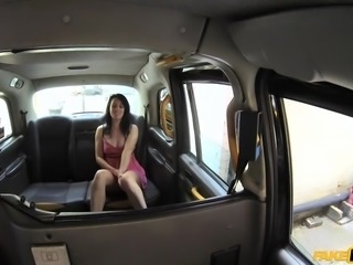 Jasmine catches a ride with me in my cab, and I start talking my way into her panties. It doesn't take long, so I pull off somewhere secluded and we get down to it. Wow, her mouth is amazing. I'm about ready to blow my load right on her tongue!