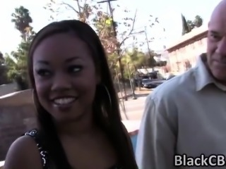 Ebony angel Melody sucks lots of white dicks