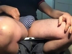 jerking in the toilet seat