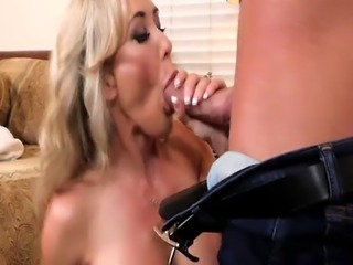Brandi Love bends over for a doggystyle fuck