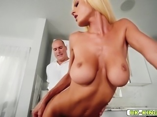 Olivia wraps big dick with her massive tits