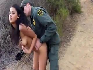 Naked car police first time Cute latin peacherino Josie Jaeger rides o