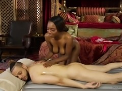 erotic rubdown and dick riding with Daya Knight and Donny Sins