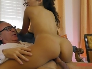 Melody Petite with long hair banging on monster cock hardcore