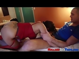Real dutch whore sucking