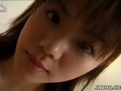 Asian nympho Akane Kuramochi wants her lover to bring joy to her tits
