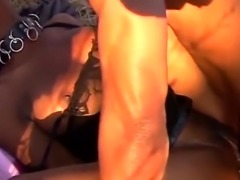 Submissive sex slave from Africa receives lesson in hard sex