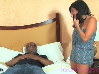 Tara holiday moaning while banging on huge dick in interracial porn