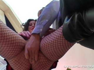 Horny Lara makes her pussy wet before being fucked well