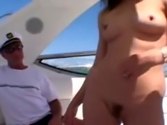 Noname Jane aka Violet Blue gets fucked on a boat