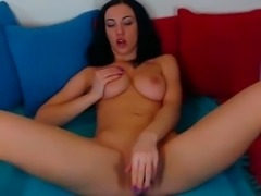 Bonerrific girl toying her tight pussy and tight ass hole with dildo