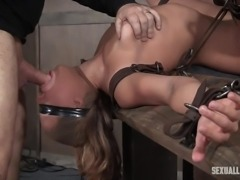 tied up julia gets mouth and ass fucked hard