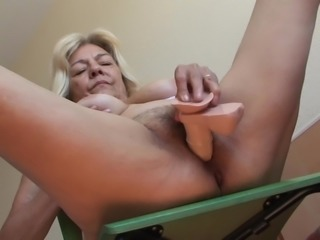 Angela's hairy vagina craves some sexual attention