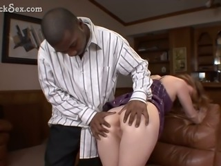 This naughty woman was more than happy to suck my huge black cock