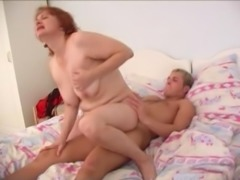 Drilling an older Russian woman's experienced pussy