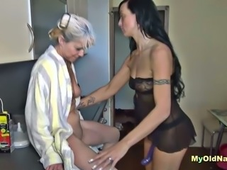 I hire a prostitute with a strap on to join us for some hot threesome fun