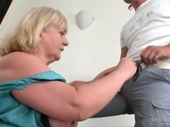 Lustful granny Anabel is getting nicely fucked on camera by a young man