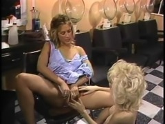 April West has hot lesbian sex at the hairdresser's