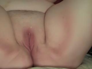 Bound blindfolded BBW slut fucks with her ugly twat