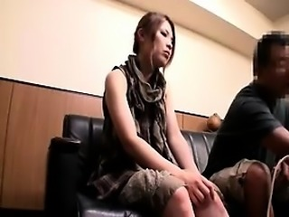 Lovely Asian enjoys anal toy in her rectum