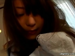 Sayaka Tsutsumi is very relaxed and horny and she loves her sex toys
