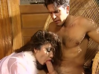 Beautiful and wild girl with big boobs blows dick and rides it