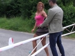 Chrissy Fox bends over for a cock during an outdoor fuck